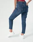 Εικόνα από Γυναικείo τζιν ψηλόμεσο με κουμπιά Μπλε