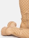 Εικόνα από Γυναικείες μπότες καπιτονέ με chunky σόλα Nude