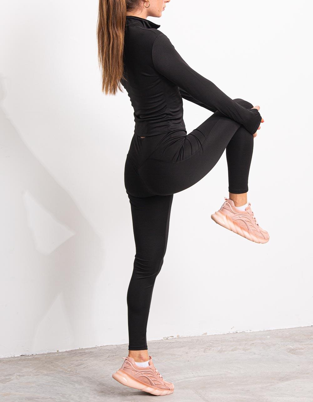 Εικόνα από Γυναικείο αθλητικό σετ  3 τεμαχίων Μαύρο