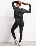 Εικόνα από Γυναικείo σετ ρούχων κολάν και ζακέτα με κουκούλα Γκρι