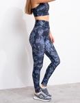 Εικόνα από Γυναικείo σετ κολαν και αθλητικό μπουστάκι Μπλε