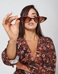 Εικόνα από Γυναικεία γυαλιά ηλίου με χρώμα στο φακό Λεοπάρ