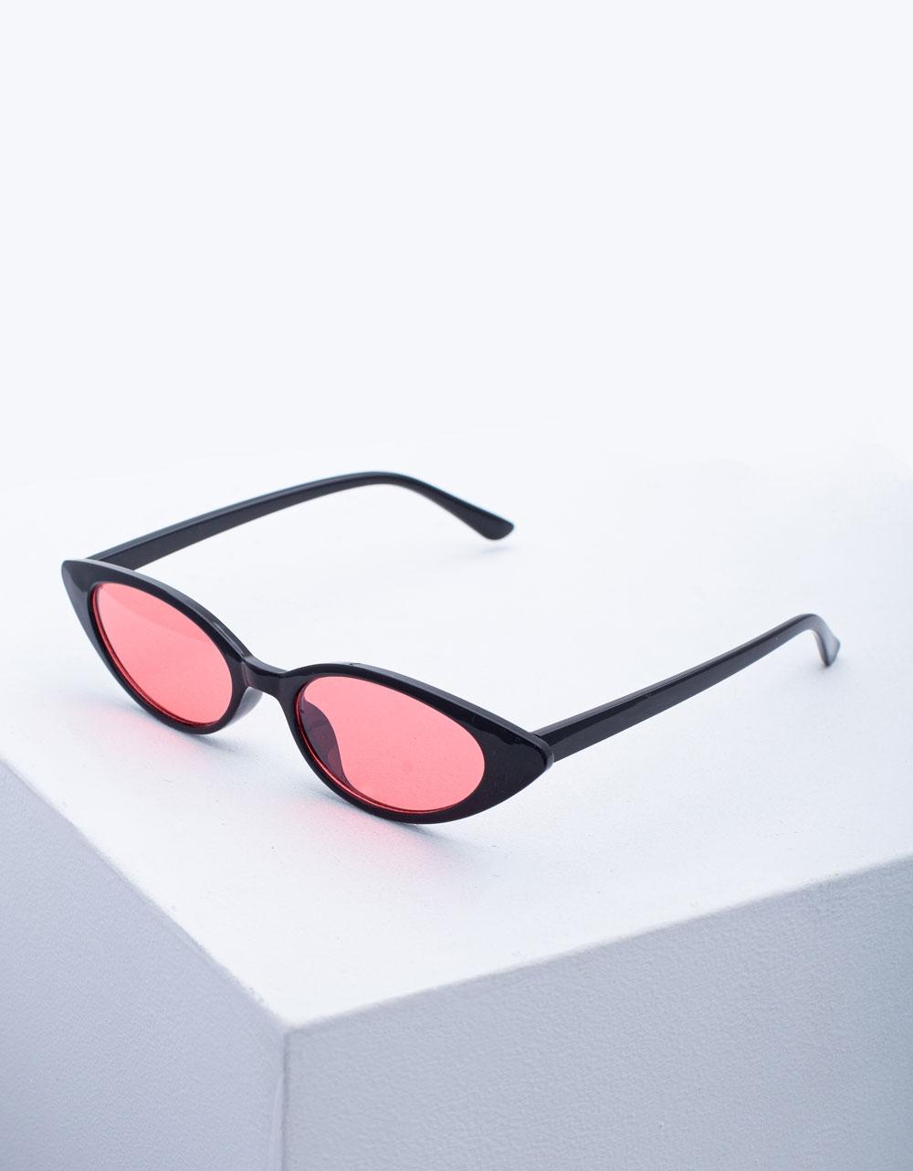 Εικόνα από Γυναικεία γυαλιά ηλίου με χρώμα στο φακό Μαύρο/Ροζ
