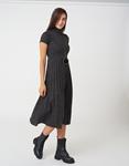 Εικόνα από Γυναικεία φόρεμα ζιβάγκο με κολιέ Γκρι