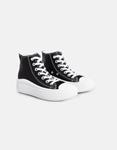 Εικόνα από Γυναικεία sneakers μποτάκια με διπλή σόλα Μαύρο