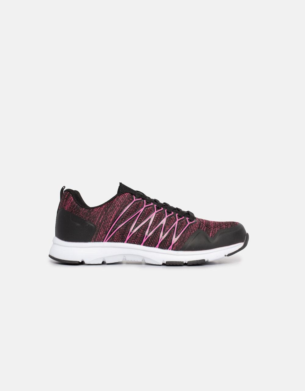 Εικόνα από Γυναικεία sneakers σε συνδυασμό χρωμάτων και υλικών Μαύρο/Ροζ