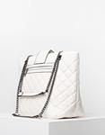 Εικόνα από Γυναικεία τσάντα καπιτονε με αλυσίδα Λευκό