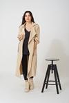 Εικόνα από Γυναικείo παλτό με ρυθμιζόμενο μανίκι Μπεζ