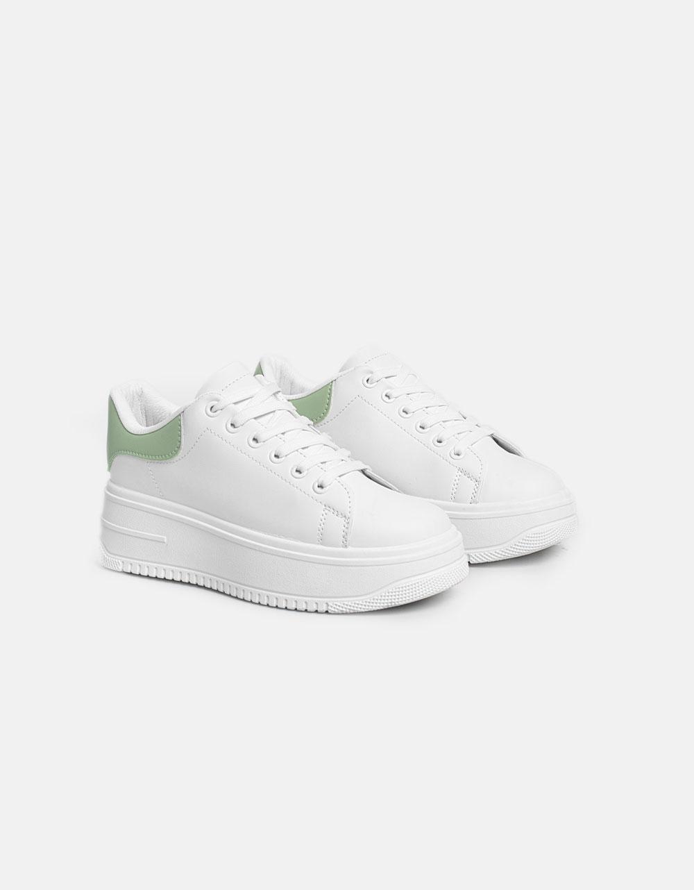 Εικόνα από Γυναικεία sneakers με διπλή σόλα και διχρωμία Πράσινο