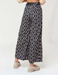 Εικόνα από Γυναικείο παντελόνι wide leg με ζωνάκι Μπεζ