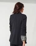 Εικόνα από Γυναικείο σακάκι basic office με λεπτό πέτο Μαύρο