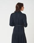 Εικόνα από Γυναικείο φόρεμα με κρόκο ζωνάκι Μαύρο