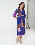 Εικόνα από Γυναικείο φόρεμα μακρύ multicolor Μωβ