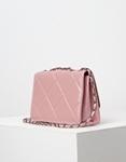 Εικόνα από Γυναικεία τσάντα ώμου μονόχρωμη καπιτονέ Ροζ
