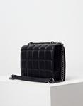 Εικόνα από Γυναικεία τσάντα ώμου & χιαστί με καπιτονέ μοτίβο Μαύρο