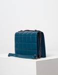 Εικόνα από Γυναικεία τσάντα ώμου & χιαστί με καπιτονέ μοτίβο Μπλε