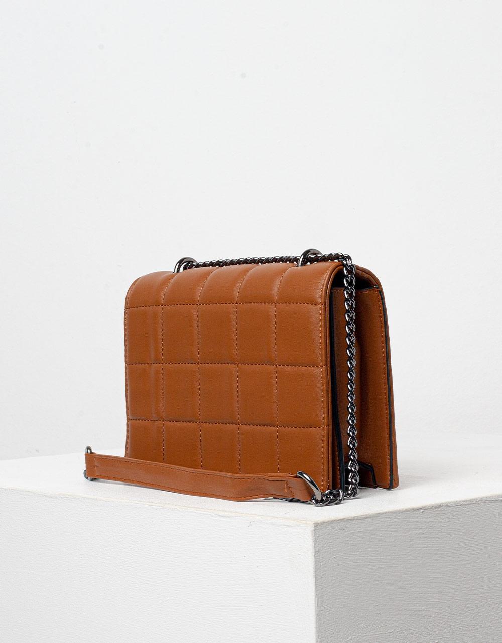 Εικόνα από Γυναικεία τσάντα ώμου & χιαστί με καπιτονέ μοτίβο Ταμπά