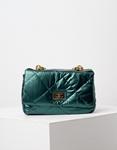 Εικόνα από Γυναικεία τσάντα puffy μονόχρωμη με αλυσίδα Πράσινο