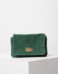 Εικόνα από Γυναικεία τσάντα χιαστί από γνήσιο δέρμα Πράσινο