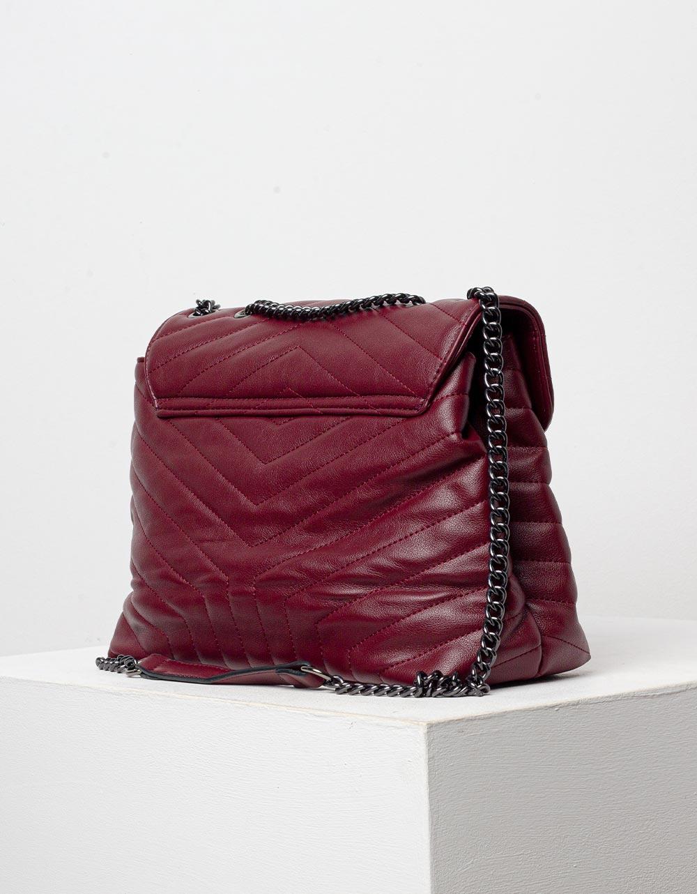 Εικόνα από Γυναικεία τσάντα ώμου με διακοσμητικό αστέρι Μπορντώ