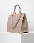 Εικόνα από Γυναικεία τσάντα με γεωμετρικά σχέδια Μπεζ