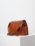 Εικόνα από Γυναικεία τσάντα ώμου με διακοσμητικές ραφές Ταμπά