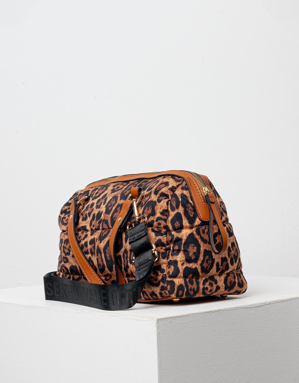Εικόνα από Γυναικεία τσάντα animal print Λεοπάρ