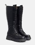 Εικόνα από Γυναικείες μπότες μονόχρωμες με φερμουάρ Μαύρο