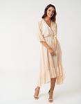 Εικόνα από Γυναικείο φορέμα με βολάν Μπεζ
