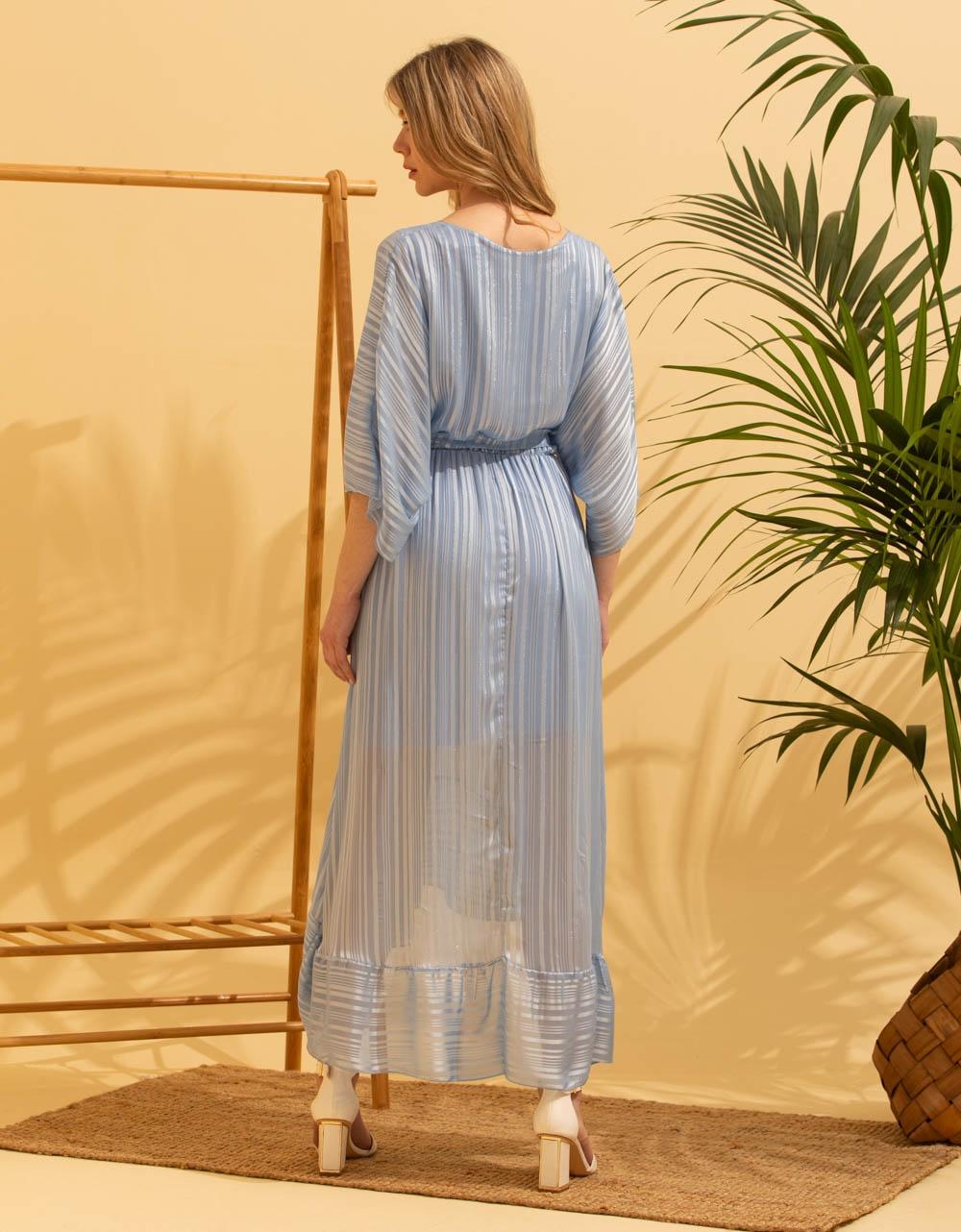 Εικόνα από Γυναικείο φορέμα με βολάν Σιέλ